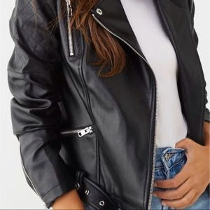 Forever 21 Belted Faux Leather Jacket